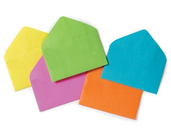 "120 Multi-Color Assorted Florist ENCLOSURE CARD ENVELOPES - Small 2-1/2"" x 4-1/4"" (Free Shipping!)"