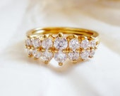 Wedding band with Faux Diamond ring -  Size 9