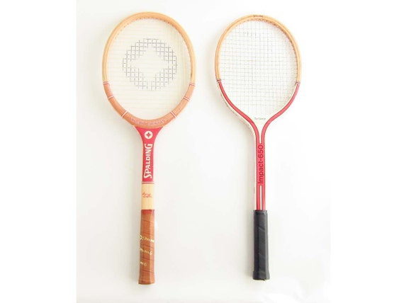 Wood Tennis Racquet Set