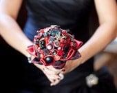 Gothic Bridal Button Bouquet