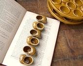 RESERVED  Ceramic French Escargot Shells Serving Dishes, Vintage Ceramic Snail Shells.