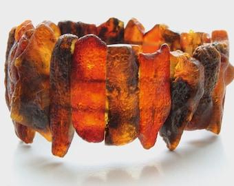 Baltic Amber bracelet, black amber bracelet, raw, unpolished amber bracelet vegan, янтарный браслет, 琥珀手鍊, 琥珀ブレスレット, ambre, Bernstein, ambar