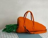 Big Carrot Vegan Orange Synthetic Gardener Felt Bag