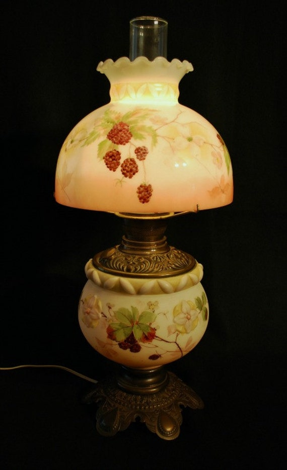 Items similar to replacement glass lamp shades for antique lamps items similar to replacement glass lamp shades for antique lamps hand painted and kiln fired on etsy aloadofball Choice Image