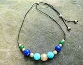 Gold dust adjustable necklace
