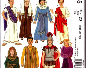McCalls M5905 Costume Sewing Pattern Christmas Story, Passion Play, Roman Guard, Mary and Joseph Shepherd Childs Medium Large X Large