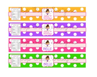 Gymnastics Water Bottle Labels- Printable