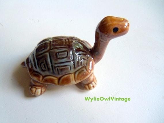 Vintage Ceramic Brown Turtle Made in Japan