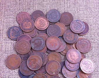 Roll of Indian head cents penny coins