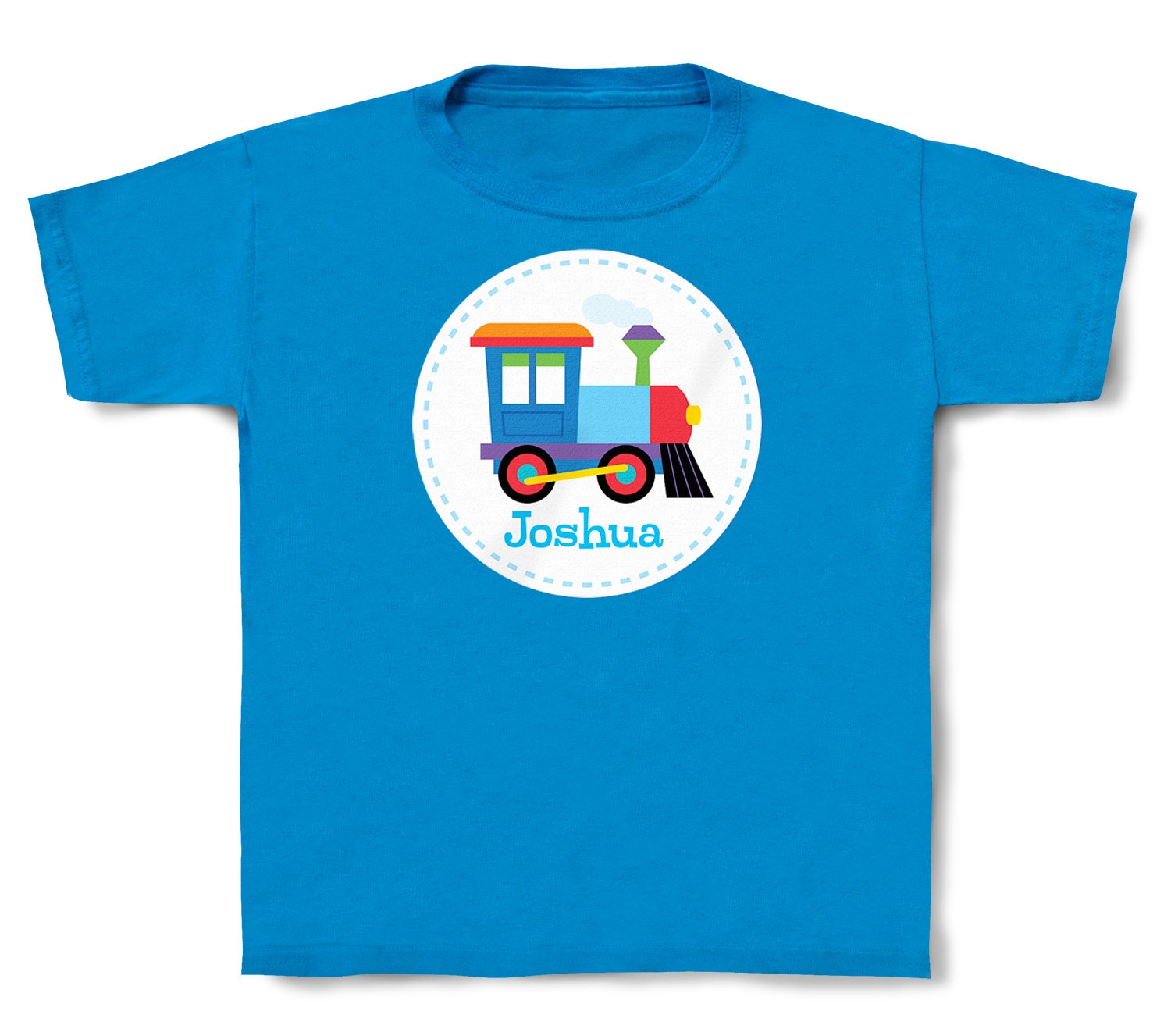 Personalized kids train t shirt cotton toddler and for Custom kids t shirts