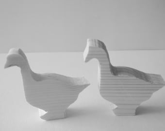 Farm Animals - Geese - Children's Toy - Natural Wood - Waldorf - Geese 3.00 each