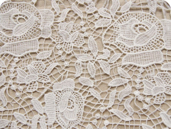 Lace Fabric Check Circle Wedding Lace Diy Lace By XoxoFabric