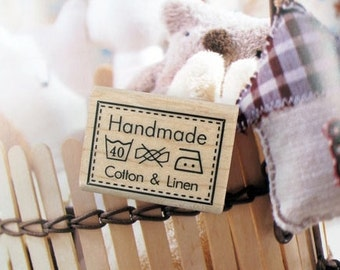Handmade Label Cotton & Linen Rubber Stamp