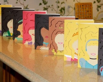 Glittery Disney Princess Cards
