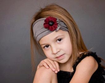 Gray Knit Headband - Toddler Headband - Baby Headband - Hairband - Adult Headband