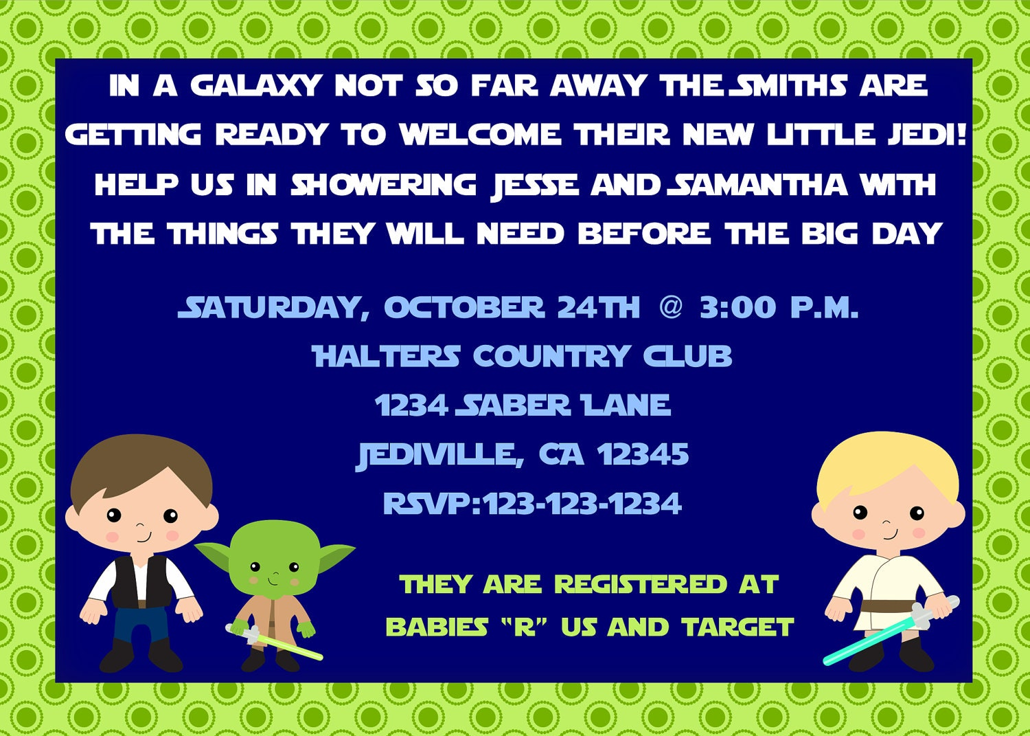 jedi star wars inspired theme baby shower by vmiddleton5 on etsy