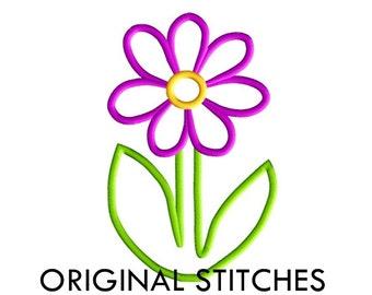 Daisy Applique and Machine Embroidery Design File 4x4 5x7 6x10