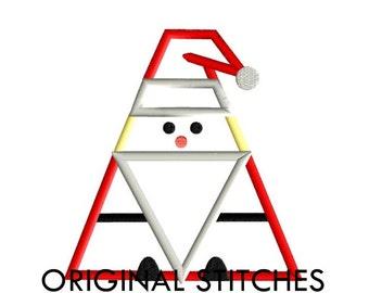 Santa Applique and Embroidery Digital Design File 4x4 5x7 6x10 7x11