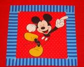 Mickey Mouse Blanket, Toddler Blue Fleece Blanket, Red Baby Blanket, Disney Blanket for daycare, travel, infants, READY TO SHIP