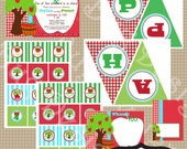 Apple Party Collection  Printable Apple invitation by Luv Bug Design
