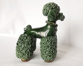 French green poodle from the 1950s