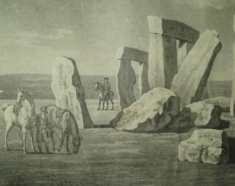 Stonehenge Print Poster Vintage