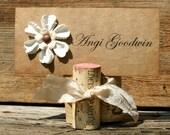 NAME CARD HOLDERS (10) wedding table setting picture holder wine cork vineyard