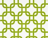 Two 20 x 20 Custom Designer Decorative Pillow Covers  - Chartreuse Geometric