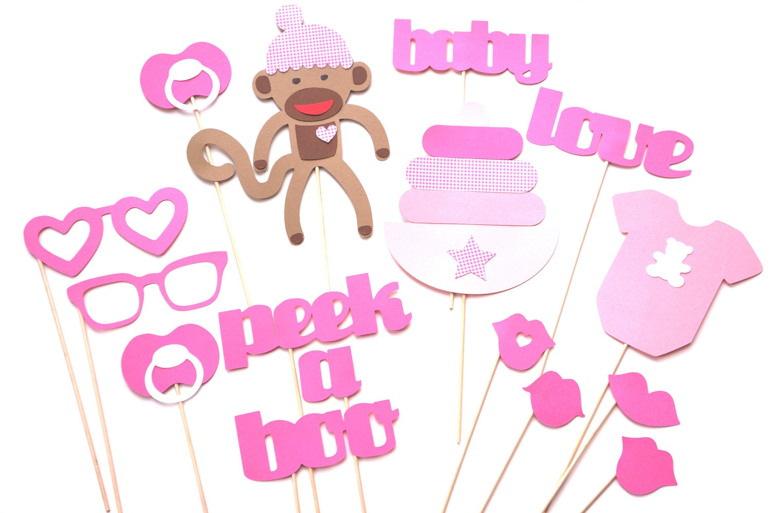 baby shower props baby girl photo props photo by themanicmoose