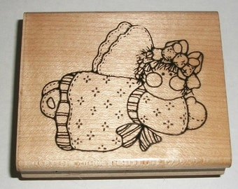 Country Doll Angel Rubber Stamps