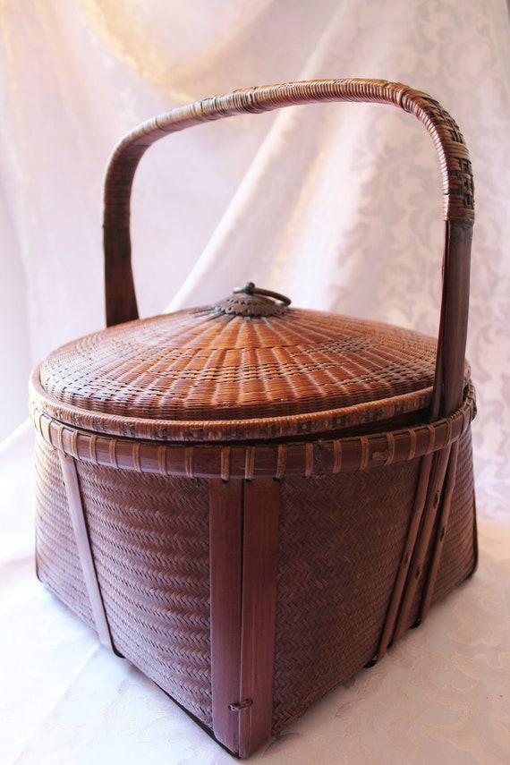 Large Vintage Food Basket