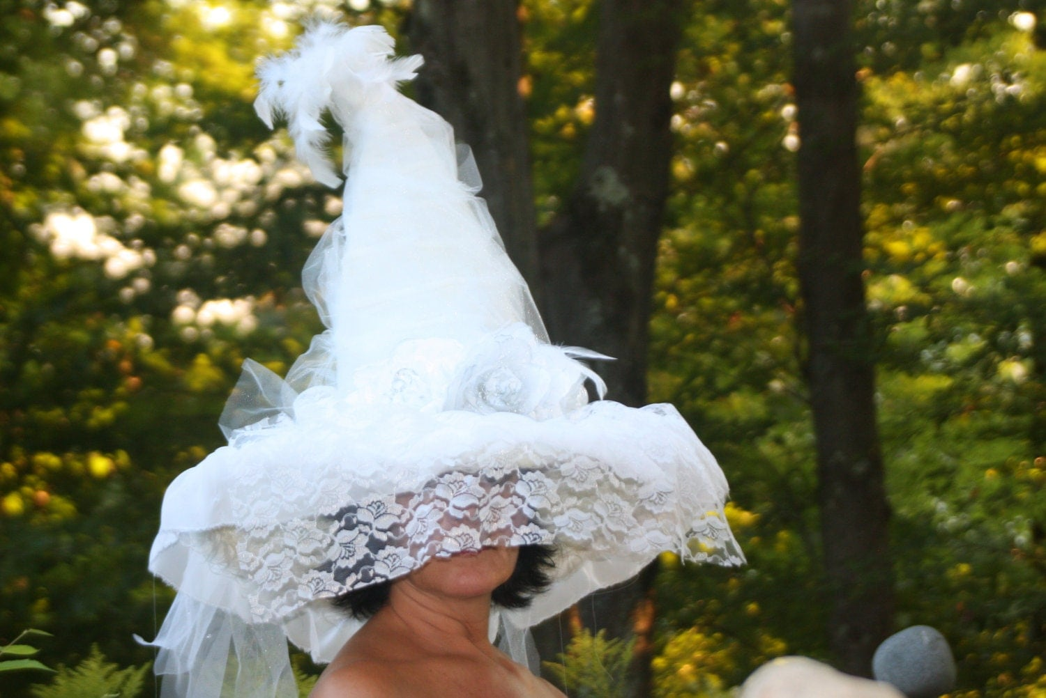 witch hat white wedding