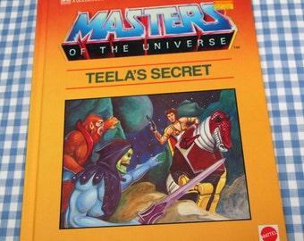 masters of the universe - teela's secret, vintage 1984 children's book
