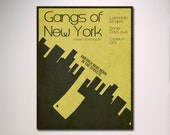"Gangs of New York Minimalist Movie Poster 11"" x 14"""
