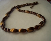 Magnetic Hematite Bronze and Chocolate Brown Necklace