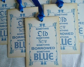 Something Old, Something New, Something Borrowed, Something Blue - Vintage Inspired Tags