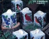 Songbird Boutique Tissue/Kleenex Box Covers Patterns PDF for 6 different birds
