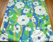 Vintage mod pillowcase mid century