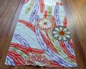 Silk  kimono fabric chirimen mum