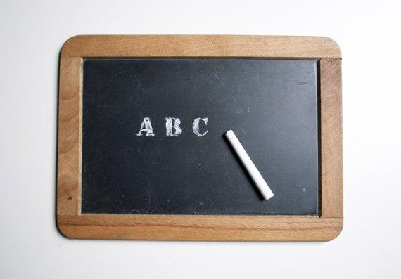 Vintage school chalkboard - framed slate italian chalk board