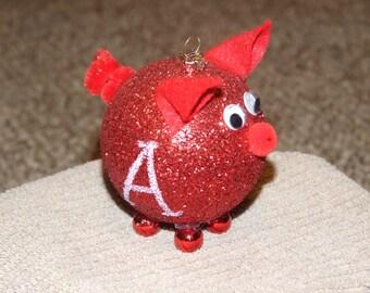 Hog Ornament - Christmas ornament home decor housewares tree decoration holiday present Arkansas razorback pig hogs