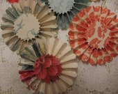 Paper Rosettes, embellishments,mini albums, cards,gift toppers,banners,party favors