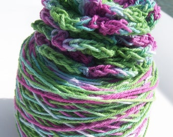 Crochet Cotton - Hand Dyed -  Size 10 - The Frog Princess - HDT  - 180 yards