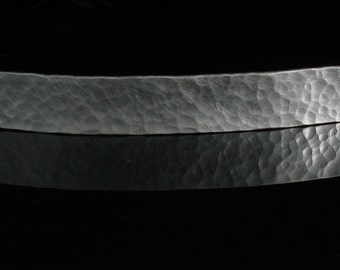 100mm Hammered Sterling Silver French Barrette Rocky Road - Handmade