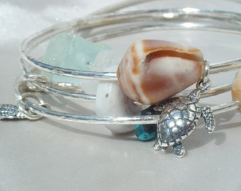Custom Sterling Silver Bangle