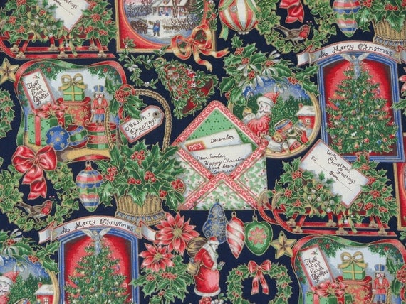 Christmas Fabric Winter Fabric V.I.P. By Cranston By