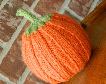 Hand Knitted Baby Pumpkin Hat - Great gift for Thanksgiving - 6-12 months - Made to Order