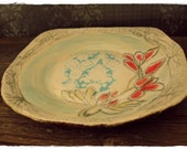 Stoneware Plate/Platter - Rustic Farmhouse Design - nice addition to your farm table