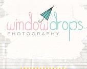Lovely vintage logo premade boutique branding logo design and watermark ooak