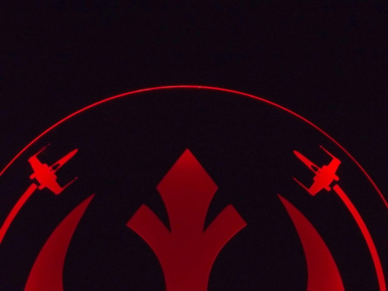 Star Wars Rebel Alliance Edge Lit Acrylic Sign